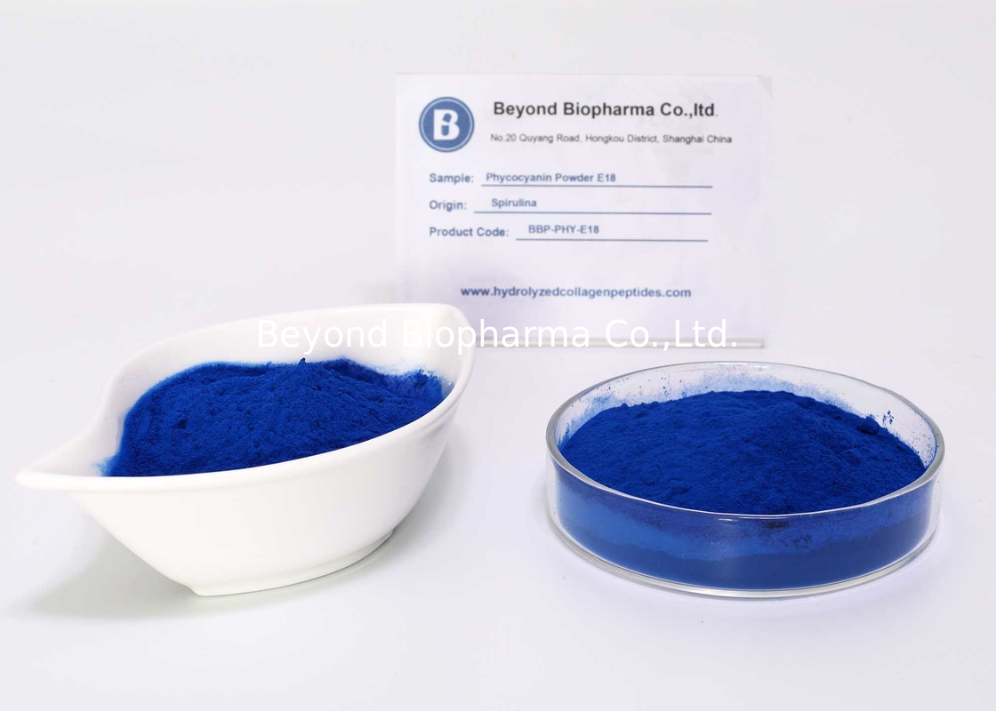 Water Soluble E18 Phycocyanin Powder For Natural Blue Food Colorant